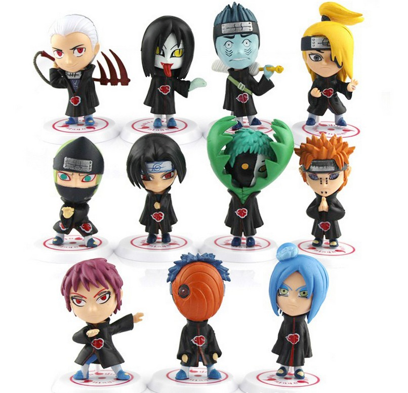 11pcs/Lot New Naruto 17 Generations PVC Action Figures Full Figures Genuine Imitate Pop Toys Cartoon Character