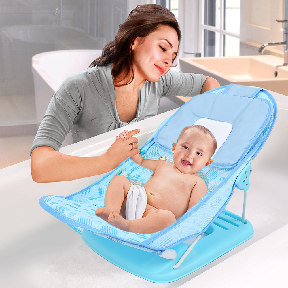 מתקפל תינוקות תינוק מתרחץ 15 kg עומס נושאות תינוקות רך פוליאסטר רשת 3-רמת גובה חריצים 2018 תינוק טיפול 2 צבעים אפשרויות