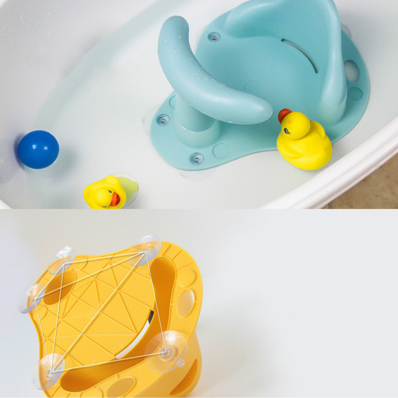 Baby Bath Tub Ring and Baby Bathtub Seat Made with Rubber and ABS Material for Infant Safety