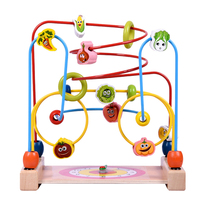 Baby Toys Wooden Bead Maze Child Beads Educational Toys Rollercoaster Maze Puzzle Toys Paradise Children Christmas