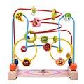 Brinquedos do bebê De Madeira Bead Labirinto Criança Contas Brinquedos Educativos Russa Enigma do Labirinto do Paraíso dos Brinquedos Presente de Natal Das Crianças