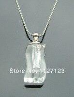 25pcs/lot lucency S-shape Rice vials pendants rice vial pendant perfume empty glass bottle glass spray perfume bottle1..