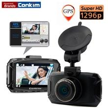 Conkim Видеорегистраторы для автомобилей Камера Ambarella A7LA70 2304*1296 P 30fps 2.7 дюйма ЖК-дисплей Автомобильные видеорегистраторы 170 градусов Сенсор тире Камера с дополнительным GPS