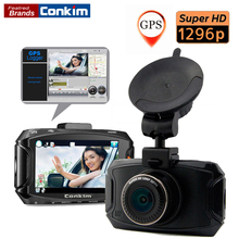 Cheaper Conkim Car DVR Camera Ambarella A7LA70 2304*1296P 30fps 2.7Inch LCD CAR DVRs 170 Degree G-Sensor Dash Camera With Optional GPS