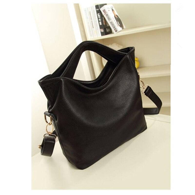 Hot Fashion Women Vintage PU Leather Tote Handbag Chic Office Ladies Crossbody Messenger Shoulder Bag 2