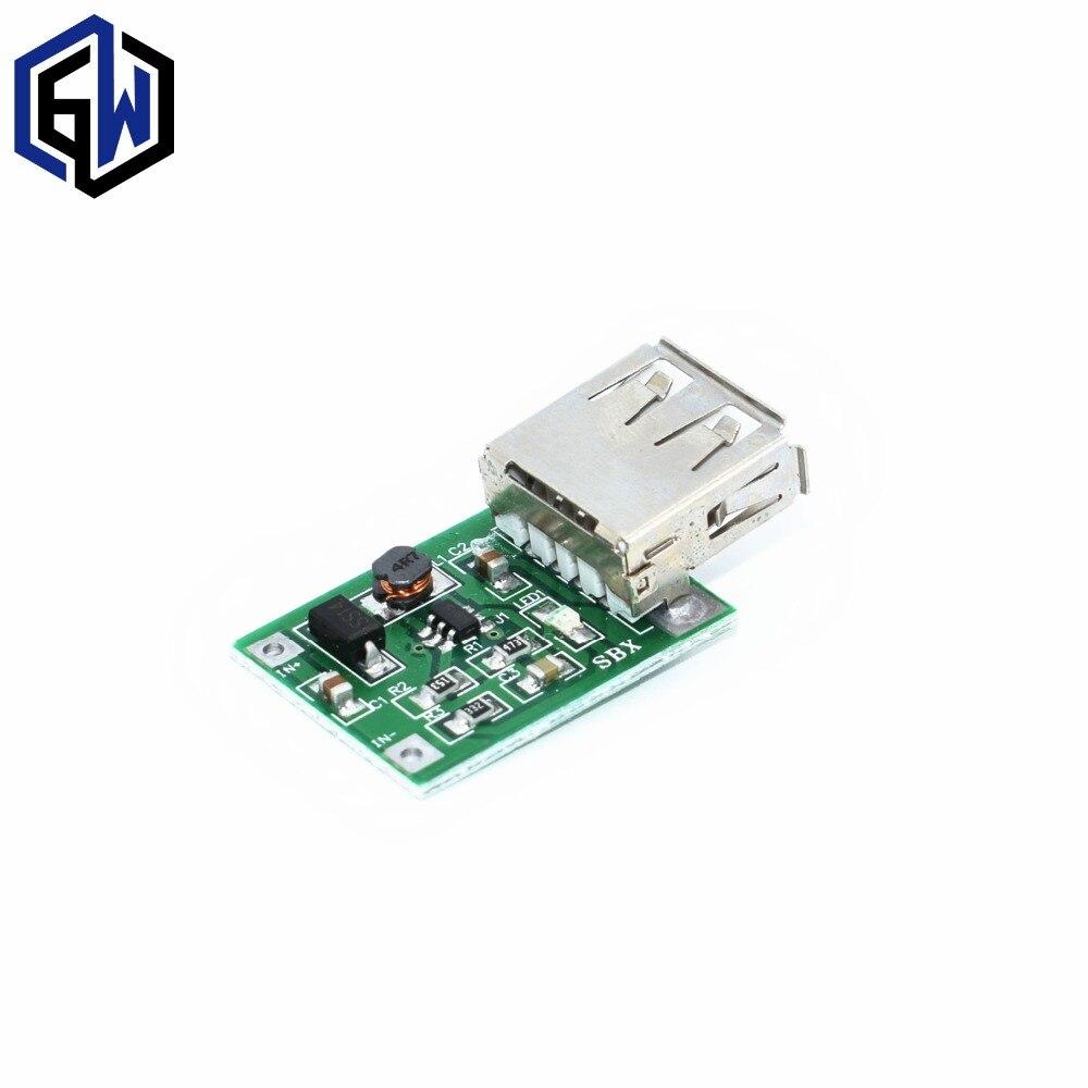 5 ШТ./ЛОТ DC 3 В до 5 В USB Выход зарядного активизировать Мощность Модуль DC-DC Повышающий Преобразователь