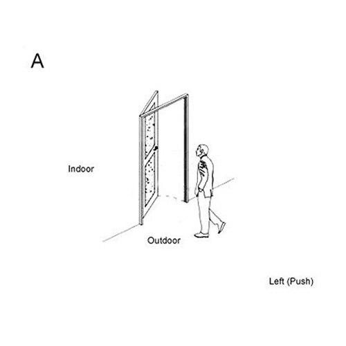 RF карты цифровой дверной замок автоматический замок для гостиницы A03 - Цвет: A left inside