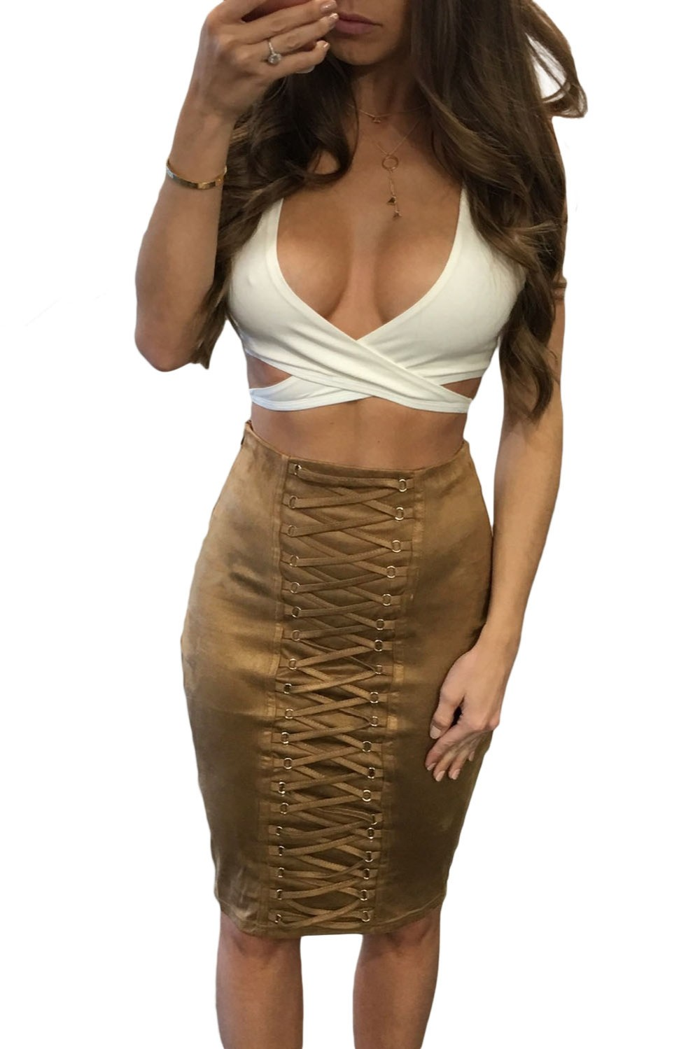 Brown-Lace-Up-Eyelet-Faux-Suede-Midi-Skirt-LC65027-17-1