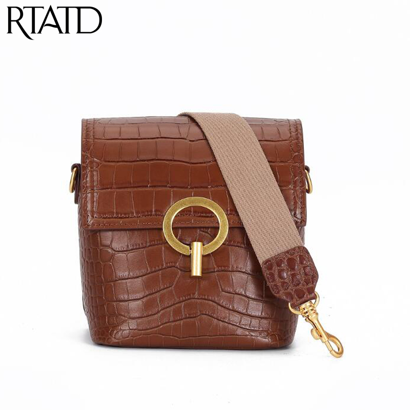 2019 Fashion Women Bag Genuine Leather Handbags Vintage Shoulder Bag Small Flap Crossbody Bags For Women Messenger Bags