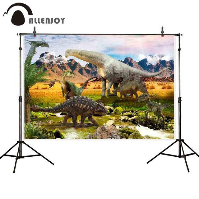 Allenjoy fond photographique dinosaure monde temps anciens étang cailloux photo studio décors photographie photographique