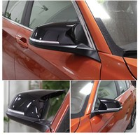 modify to M3 Black Cow Horn mirror covers for BMW 1/2/3/4 Series X1 GT F20 F22F30 320Li 328 330i 2013 2016 exterior accessories