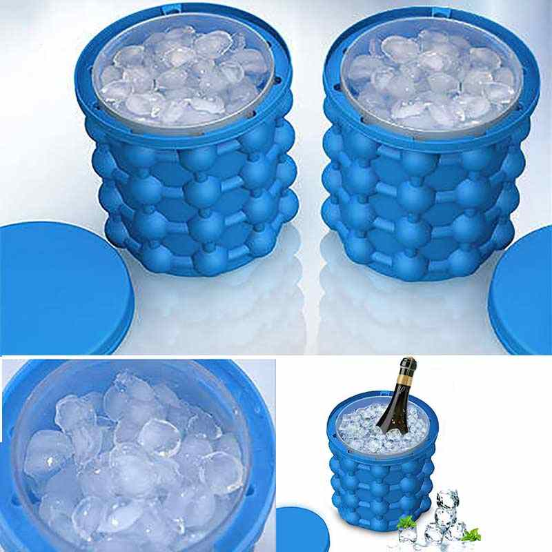 120 Lattices Silicone Ice Bucket Wine Ice Cooler Cube Maker Beer Cabinet Space Saving Kitchen Tools Drinking Whiskey Freeze