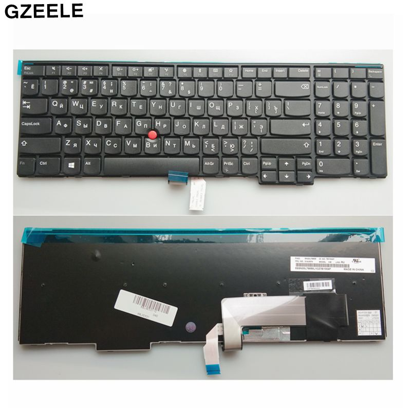 Russian Keyboard For Lenovo IBM ThinkPad T550 T540 T540p  L540 Edge E531 E540 W541 W540  W550s 0C44592 0C44913 0C44952 RU(China)