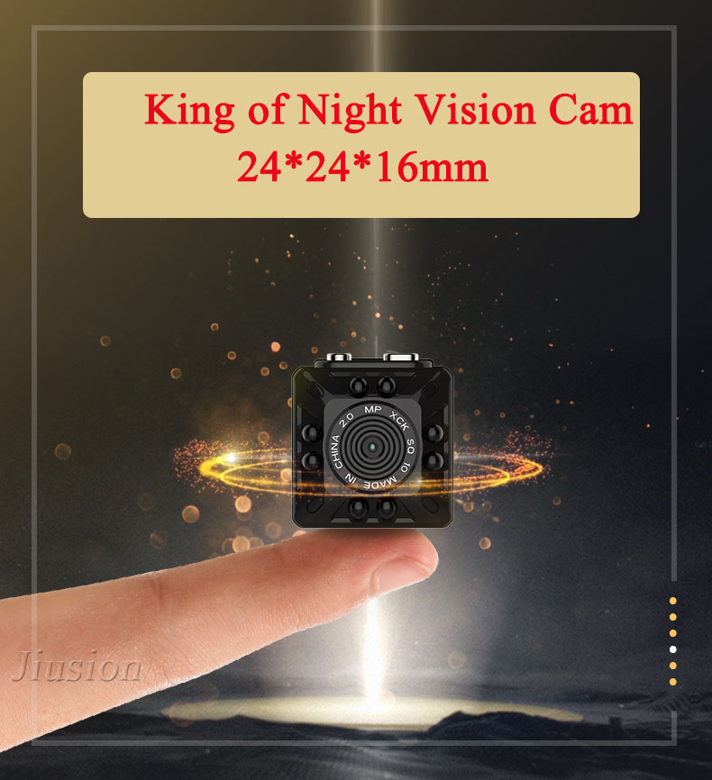 Smallest HD 1080P Mini Camera Micro Cam Digital Voice Video Recorder Night Vision Camcorder for Sport Action Nanny Helmet Bike