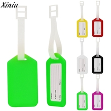 10 set of Bag Accessories Travel Luggage Bag Tag Name Address ID Label Plastic Suitcase Baggage Tags Candy Colors Tags *7712(China)