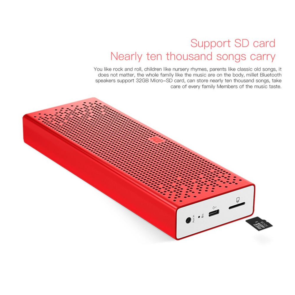 Xiaomi Mini Portable Bluetooth 4.0 Speaker Wireless Stereo Square Box MP3 Player Support Hands free & TF Card Reading
