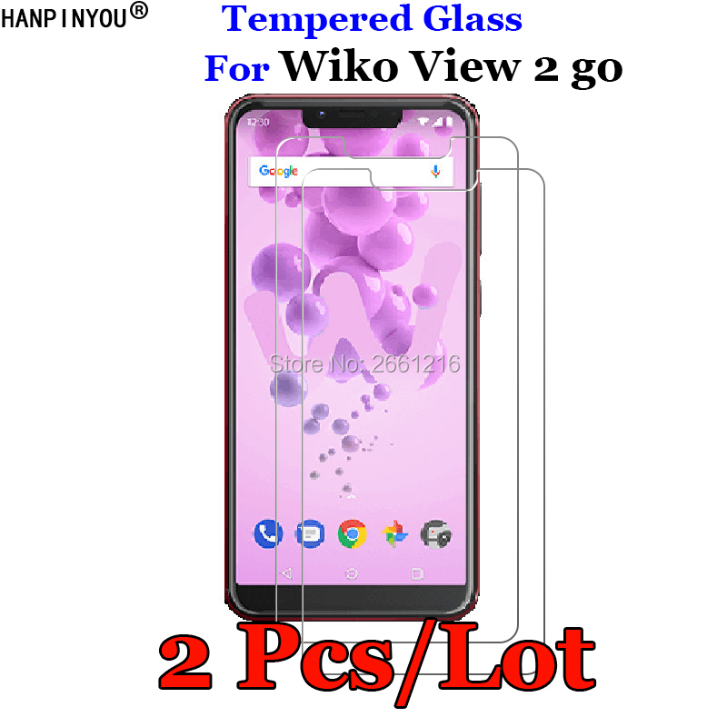 2 Pcs/Lot For Wiko View2 Go Tempered Glass 9H 2.5D Premium Screen Protector Protective Film Guard Shield Wiko View 2 Go 5.93