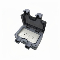 15A Wall socket Power Supply IP66 Outdoor Switch Workshop Garden Outlet Port Plug Panel Box Household Receptacle
