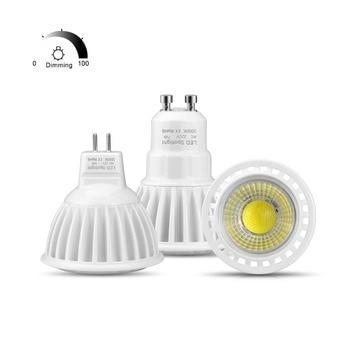 LED Lamp Support Dimmer Aluminum Spot Luz LED Bulbs GU10 220V 110V Spotlight Dimmable 3W 5W 7W MR16 LED 12V AC DC LED Light LED Spotlights