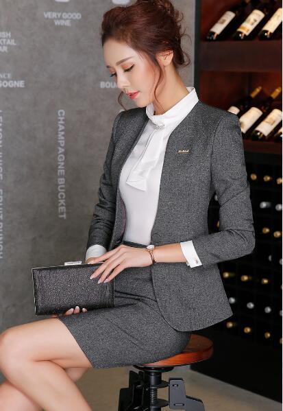5b9c2317c2f4 Fmasuth Woman Pants Suit Business Winter Jacket Blazer+Long Trousers ...