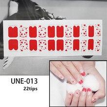цены на Lamemoria 22 Tips 3D Nail Art Stickers Red Heart Designs French Environmental Adhesive Stickers Decal Tips for Women Manicure  в интернет-магазинах