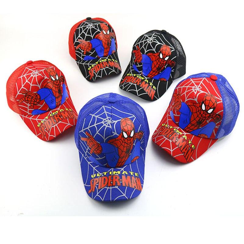 Honey Cartoon Childrens Baseball Cap 2019 New Fashion Spiderman Net Cap Cute Boy Summer Hat Hats & Caps