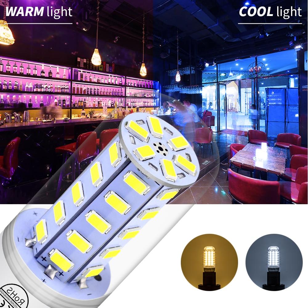 Купить с кэшбэком CanLing LED Bulb E14 Lamp 220V Ampoule Led Candle Light Bulb E27 Corn Lamp 5730 SMD 24 36 48 56 69 72leds Bombilla GU10 Lampada
