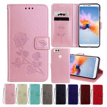 Leather Case For Honor 7X Cases Wallet Cover Flower Design Phone for Huawei