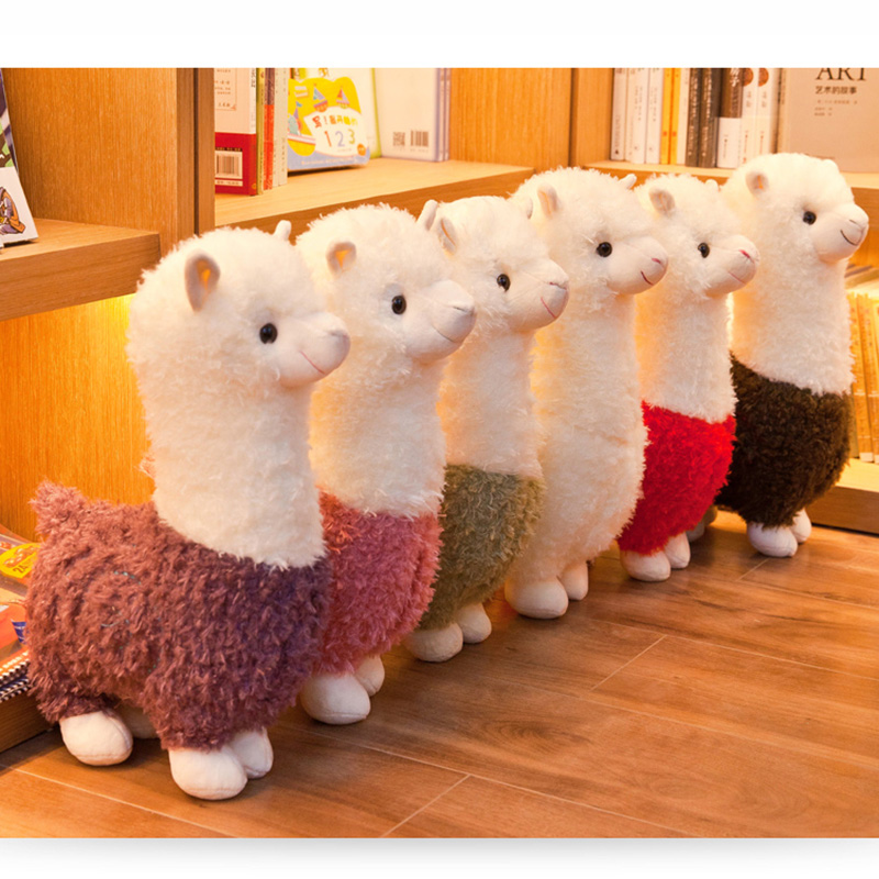 Cute Animals Doll Plush-Toys Alpaca Christmas-Gift Birthday Soft Cotton 25cm 6-Colors