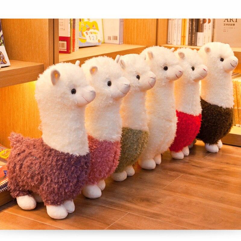 25cm Alpaca Plush Toys 6 Colors Cute Animals Doll Soft Cotton Plush Toys Kids Birthday Christmas Gift