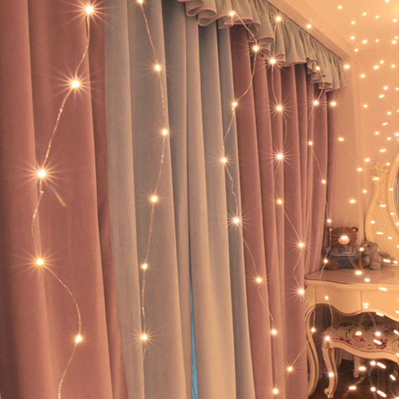 3Mx3M 300 LED USB Powered Led Curtain Light Copper Wire LED String Curtain Lights Wedding Lights With RF Remote