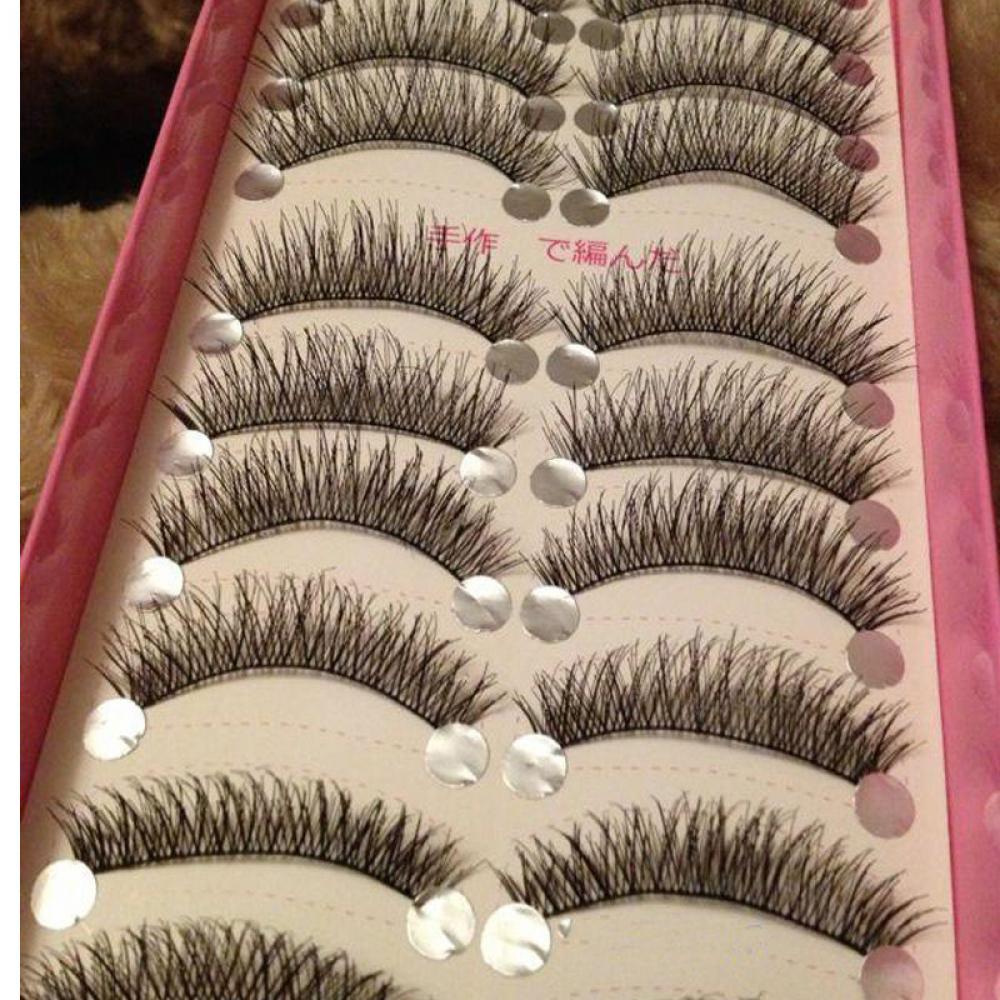 cb2f62ac40e 10 Pairs/set Natural Long False Eyelashes Thick Cross Makeup Beauty Fake  Eyelashes cilios Fake Eye Lashes Extension Tools free shipping worldwide