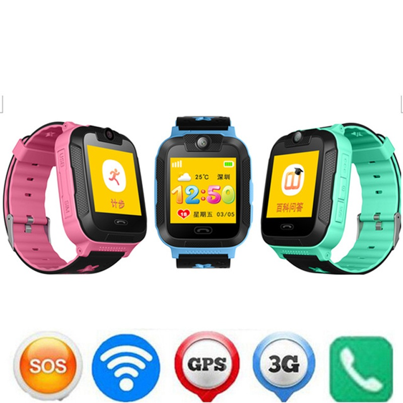 G76 enfants coffre-fort intelligent 3G GPRS GPS localisateur Tracker montre-bracelet enfant bébé SOS moniteur à distance caméra montre pour IOS Android Smartphone