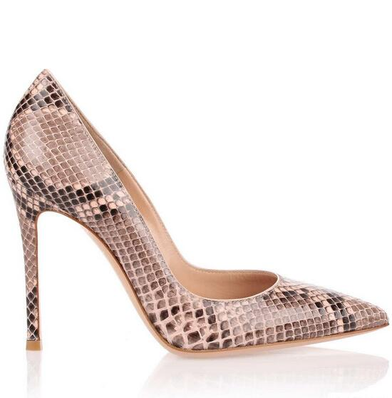 ФОТО 2017 New Style Women Sexy Snake Skin Pumps Mixed Colors Prints Spring Super High Heels Pointed Toe Lady Shoes