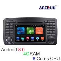 4G RAM Android 8.0 Jogador Do Carro DVD Para Mercedes/Benz/AMG R classe W251 R280 R300 R350 R63 rádio Do Carro GPS navigator bluetooth