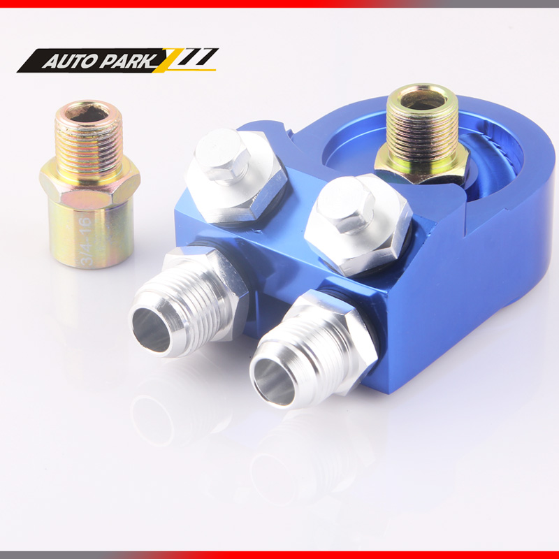 Aluminum AN10 1/8 NPT OIL COOLER ADAPTER SANDWICH TURBO FITTING 3/4-16 UNF,M20*1.5