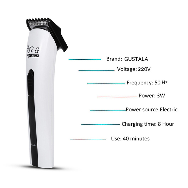 Professional Rechargable Hair Clipper by Gustala