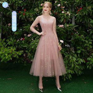 Image 4 - Beauty Emily robe de demoiselle dhonneur, ligne A, en dentelle, rouge, longues, robes de bal de mariage pour femmes, 2019