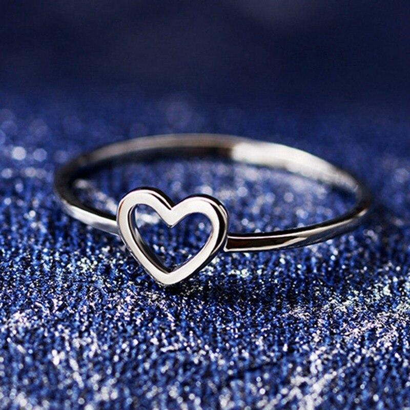 1 Pc Frauen Ring Hohl Herz Ring Für Paar Hochzeit Versprechen Unendlichkeit Eternity Liebe Schmuck Boho Mujer Geschenke Mit Einem LangjäHrigen Ruf