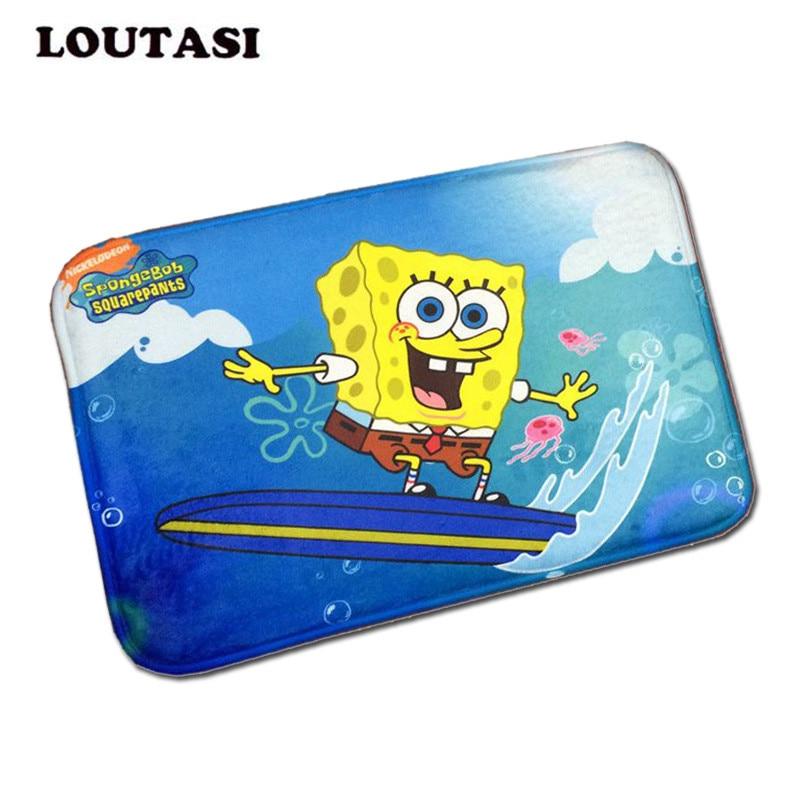 40*60cm Cartoon Bath Mat Funny SpongeBob Printing Rug