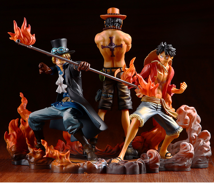 17cm One Piece Monkey D Luffy Dxf Brotherhood Pvc Figures Collection Model Toys Kids Doll Gifts Action & Toy Figures