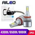 AILEO 7 цветов выбор высокая мощность Вентилятор охлаждения H11 Светодиодный H8 H9 HB3 HB4 9005 9006 H1 H3 Автомобильная противотуманная фара 3000K 4300K 8000K 12V 60W...