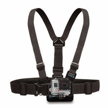 Free Shipping Camera Single Shoulder Sling Black Strap For Action Camera Sports Activity Chest Belt Adjustable Camera Accessory