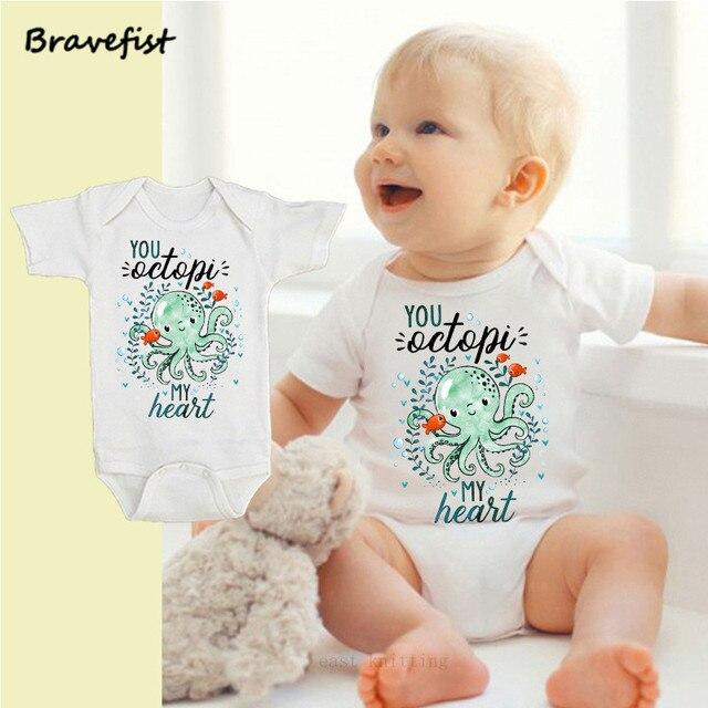34345e59e Octopus Print Baby Children Kids Clothing Boys Girl Summer Short ...
