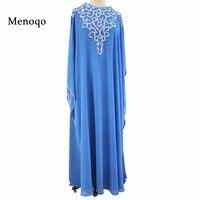 Синий шифон Длинные вечерние платья Арабский женщины бисером длина пола вечернее платья Реальные фотографии одежда с длинным рукавом Vestido ...
