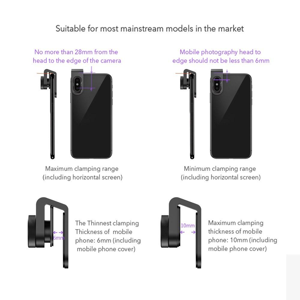 HD Optic Camera Phone Lens 100mm Macro Lens 10x Super Macro Lenses For iPhonex XS MAX Samsung S9 All Smartphone