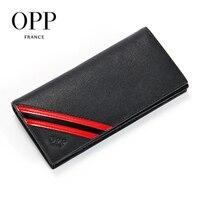 OPP мужской кошелек кожаный бизнес, Длинный кошелек, Модный складной кошелек в английском стиле, кошелек с перекрестной картой