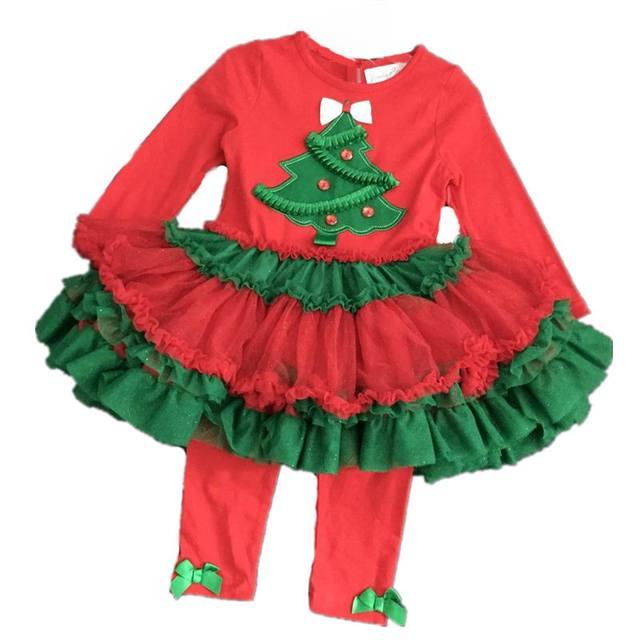 d88259634d40d1 Retail Emily Rose Christmas Tree Tutu Dress and Legging Set for 2-8yrs  Little Girls