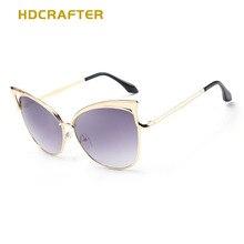 HDCRAFTER 2017 Fashion Brand New Designer Ladies Sunglasses Cat Eyes Colorful Polarized UV400 Eyeglasses For Women