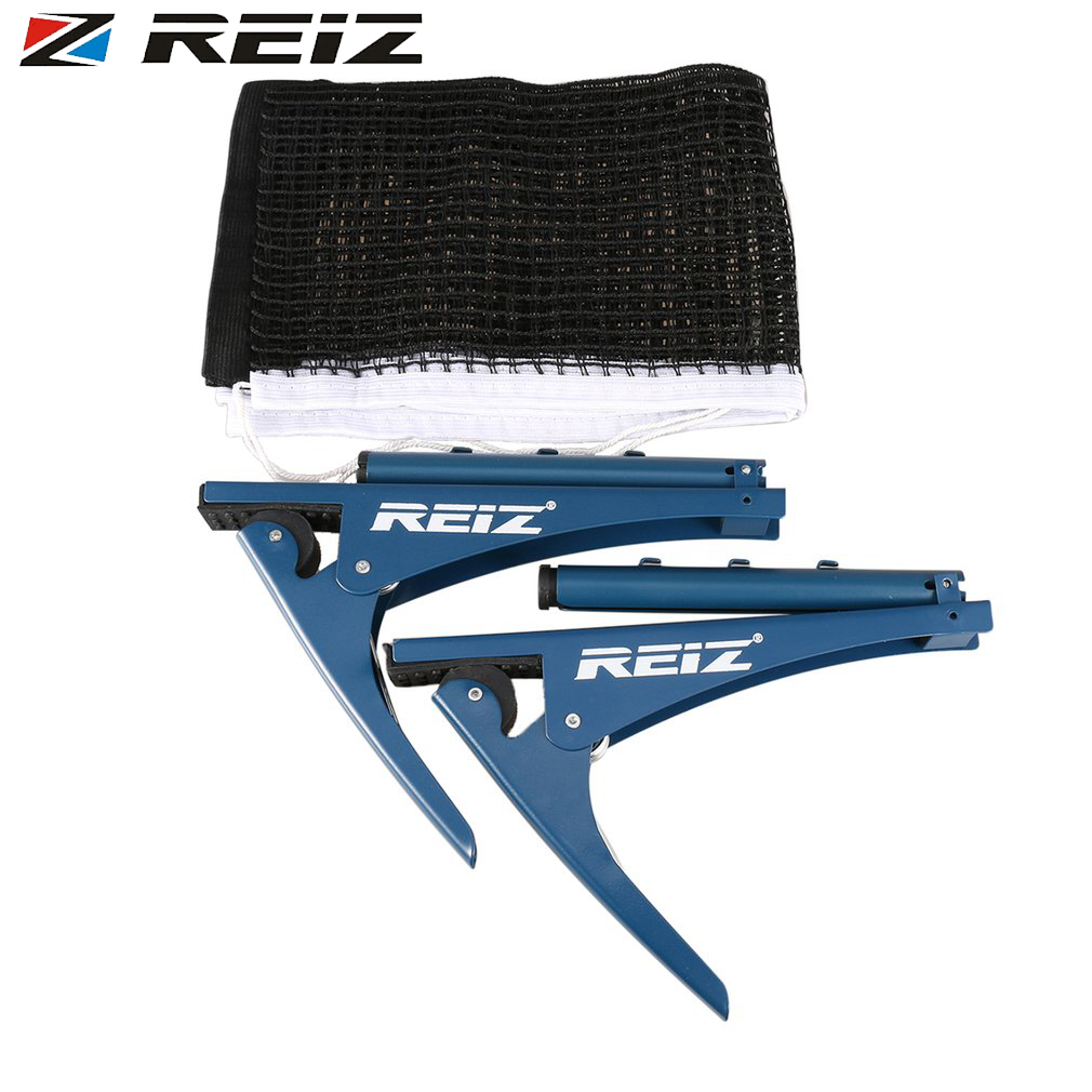 REIZ Professional Table Tennis Net With Clamp Post Stand NW074 Portable Ping Pong Table Accessory For Indoor & Outdoor